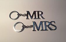 Silver Plated Mr & Mrs Keyrings Wedding & Anniversary Present Gift Ideas WG278