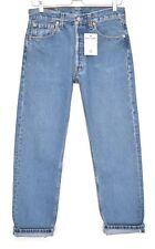 Vintage UK Levis 501 90s Straight Leg Boyfriend Blue Jeans Size 10 L30