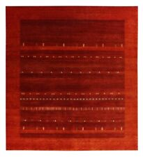 New Red Gabbeh Oriental Traditional Hand Knotted Design 100% Wool Area Rugs