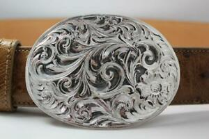 Handmade Sterling Silver (.925) Cowboy Trophy Belt Buckle (Made in Texas) #EB02