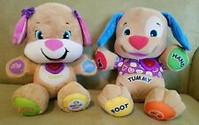 TWO Fisher-Price Laugh and Learn Smart Stages Puppy, Gently Loved -- CLEAN