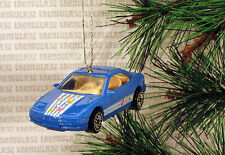 BMW 850i BLUE SPORTS CAR CHRISTMAS ORNAMENT XMAS
