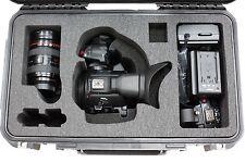 Black SKB for Cannon C100 / C300 / C500 case with foam & Pelican TSA Lock
