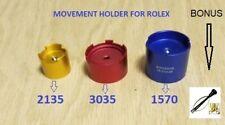 New ! 3 X MOVEMENT HOLDER  for ROLEX 1570 & 2130 / 35 & 3035 Bonus Hand Remover