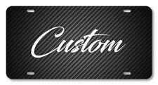 Carbon fiber Black Vanity License Plate Custom Style Car Truck Accessory accent