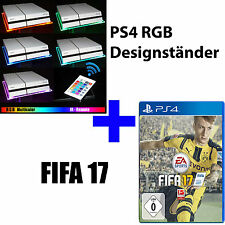 PS4 Playstation 4 Pro Bundle FIFA 17 + RGB Design Acrylglas Ständer Stand Base