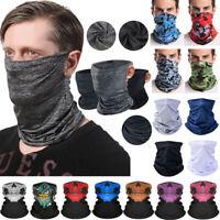 Summer Neck Gaiter Tube Bandana Scarf Face Cover Beanie Biker Headwrap Balaclava