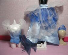 Barbie PRINCESS Cinderella Clothes Dress Blue Tulle Skirt Gown & Top Shoe Disney