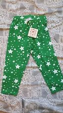 Nwt Hanna Andersson Anderson Green Stars cropped Leggings Pants Size 130 8