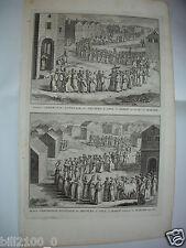 XVIIIé.gravure sur cuivre par B.Picard - Mariage à JAVA . Indonésie