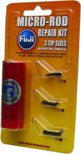 New Fuji Black Micro Rod Repair Kit Glue & 3 Tops Bmfrk4C