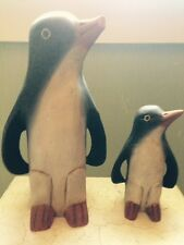 Mandaly Box Company - Pair of Solid Wood Hand Carved Penguins Made in Thailand