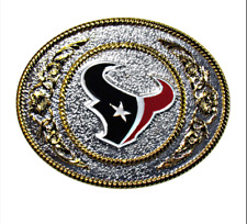 Houston Texans Belt Buckle Collectible Two Tone