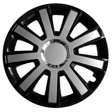 "4x15"" Wheel trims wheel covers for Seat Ibiza 15"" black-silver"