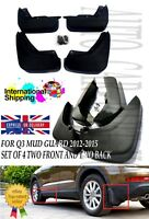 FOR Audi Q3 2012-2014 MUD FLAPS MUD SPLASH GUARDS SET OF 4 FRONT AND REAR UK