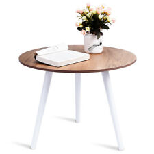 Wooden Round Coffee Side Table Modern Tea Nesting End Table Corner Home Office