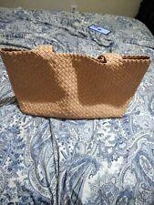 Falor Italia Woven Leather Tan bag