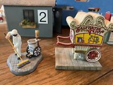 "Department 56 Christmas In The City "" Saltwater Taffy Cart And Street Sweep"