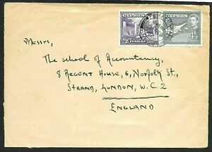 Cyprus Cover Famagusta to England 1952