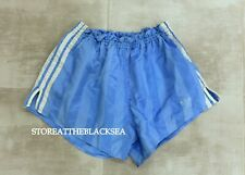 VINTAGE 1970'S 1980'S FOOTBALL SOCCER SHORTS BLUE WHITE ADIDAS MEN