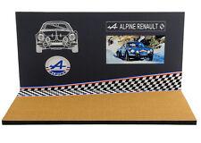 Diorama Présentoir Alpine Renault Museum/showroom - 1/43ème - #43-2-c-c-009