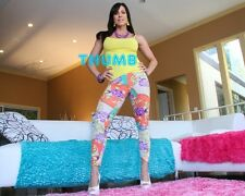 Kendra Lust - 10x8 inch Photograph #046 in Tight Multi Coloured Leggings & Heels