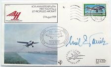 Erich Warsitz German Test Pilot Heinkel Aircraft In 1939 Autograph Signed Cover