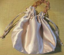 NEW Edie Parker Bobbi Brown Soft Pink Satin Wristlet Bucket Bag