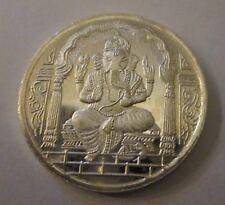 Diwali Ganesha 20 Gram Silver Coin w/ Ohm Praying India Hindu God New Year