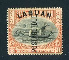 Labuan, North Borneo 1901. Postage due. 8c stamp. MH. Og.