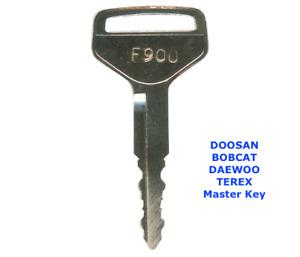 F900 DOOSAN BOBCAT DAEWOO TEREX Master Plant Excavator Dumper Digger Key