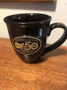 Vintage 50th Anniversary Fender Guitar Stratocaster Coffee Mug Genuine Trademark