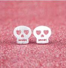 Sterling Silver Skull Stud Earrings. Sugar Skulls, Day Of The Dead