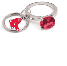BOSTON RED SOX JUMBO BLING KEY CHAIN  NEW & OFFICIALLY LICENSED