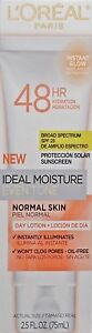 L'Oreal Ideal Moisture Even Tone Day Lotion SPF 25 Normal Skin 2.5 oz