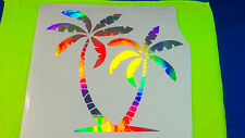 Holographic Tropical PALM TREES Tree Pair Car Window Decal Sticker