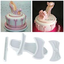 9pcs Plastic High-Heeled Shoes Shaped cake Cutter Fondant Cake Baking tool White