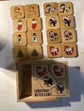 Wooden christmas Match Game