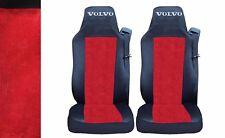 2 x Sitzbezüge Schonbezüge Bezüge Schwarz / Rot Lux LKW VOLVO FH12 FH16 FL FM