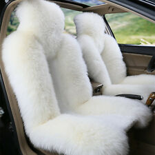 Two Piece Genuine Sheepskin Car Seat Covers Real Fur Fits most Cars