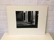 Vintage Likely 1970's Signed Black & White Photograph of a Bike in a Dark Alley