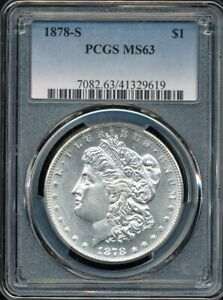 1878-S Morgan Silver Dollar PCGS MS 63 *Blast White, Near PL Surfaces!*