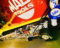 NHRA Larry Dixon SIGNED 1:24 Diecast DON PRUDHOMME Top Fuel SNAKE SKIN Dragster
