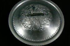 VINTAGE HAND FORGED EVERLAST SIGNED ROUND BOX CONTAINER W LID SWEET PEA HANDLE