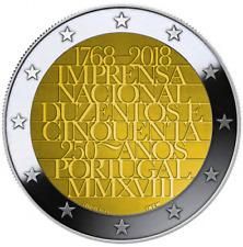 """2 Euro Gedenkmünze PORTUGAL 2018 """"Münzstätte""""  Unz."""