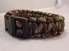 WOODLAND Paracord Survival Bracelet hiking fishing bushcraft wristband camping