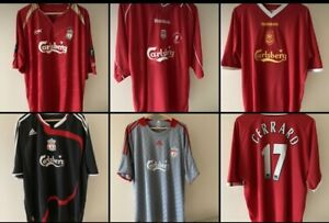 5 Liverpool LFC Shirts 2001 2002 2005 2008 2009 Excellent Condition