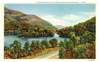 Emerald Lake Green Mountains, Vermont Linen Vintage Postcard