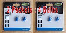 4 Bulbs : 2 x Twin Pack Ring BLUE Dashboard Bulb LED509TB B8.5D 509T 12V B8.5D