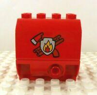 Lego Duplo Water Tank Fire Truck red